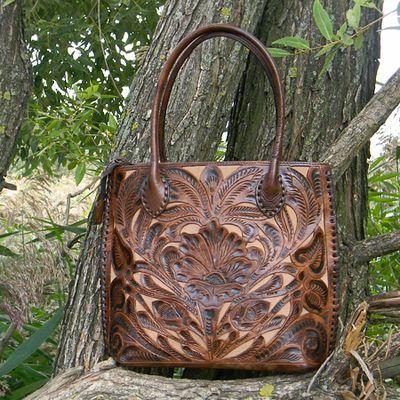 Необычная коричневая сумка