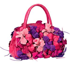 Необычная розовая сумка